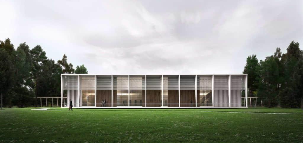 3D Architekturvisualisierung Bibliothek Render Visualisierung