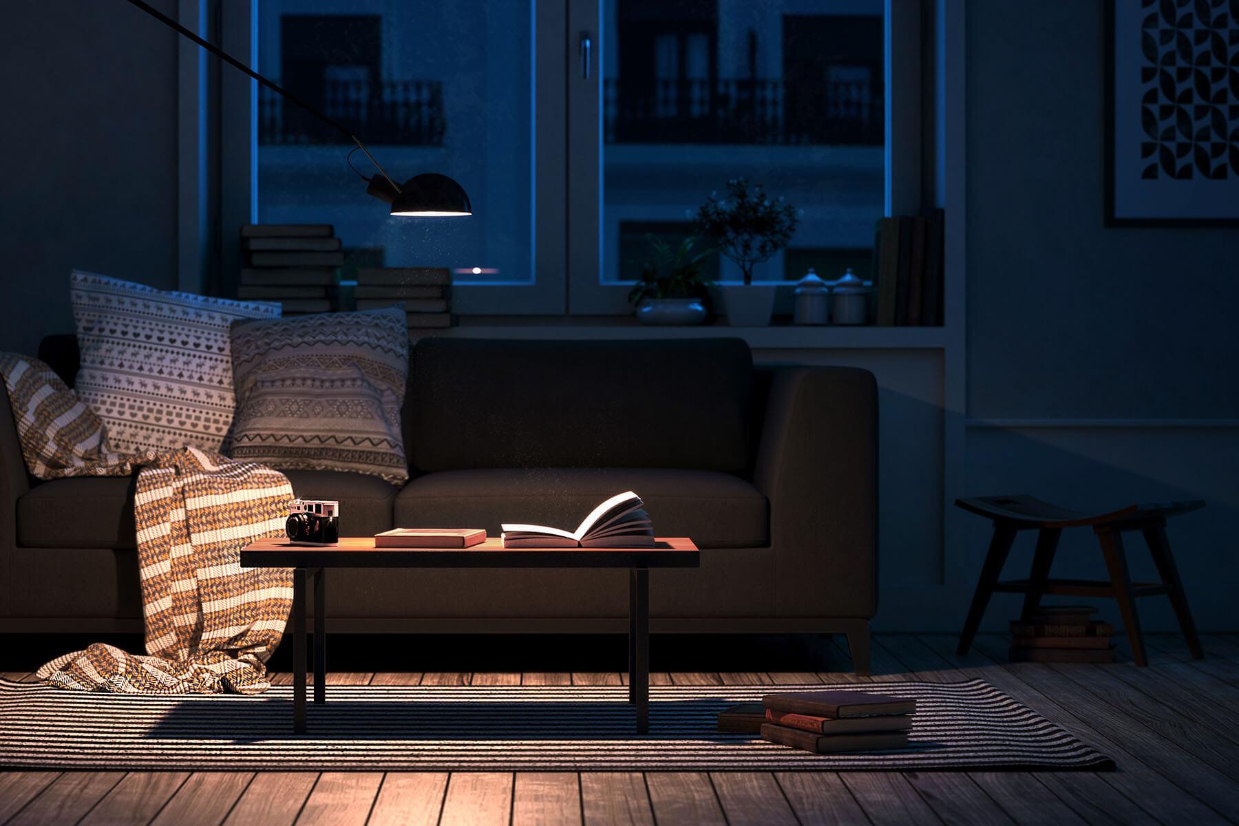 Wohnzimmer Architektur Visualisierung. Render Visualisierung