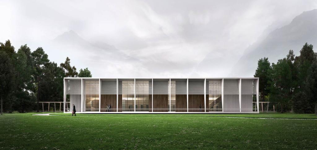 3D Architekturvisualisierung Bibliothek Architektur Visualisierung