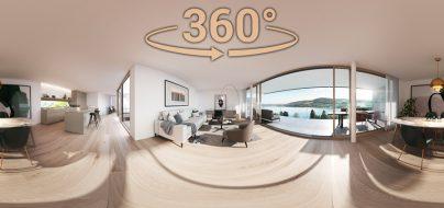 VR-rendering- Architektur Seengen - 360 Panorama